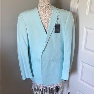 Madison Men's mint blue and white sports coat
